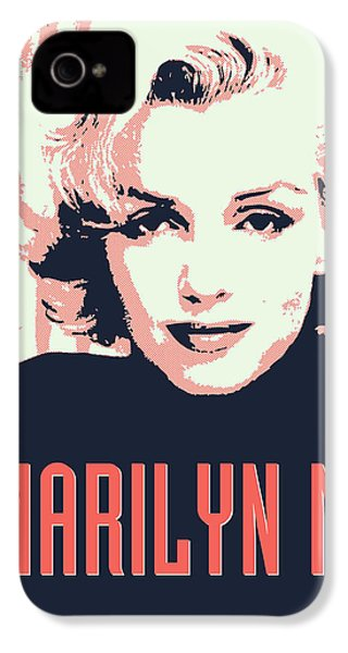 Marilyn M IPhone 4 Case by Chungkong Art