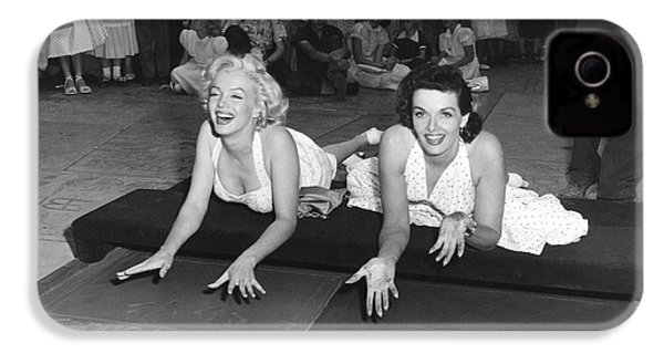 Marilyn Monroe And Jane Russell IPhone 4 Case by Underwood Archives