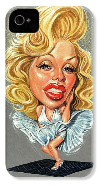 Marilyn Monroe IPhone 4 Case by Art