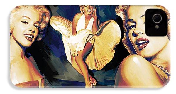 Marilyn Monroe Artwork 3 IPhone 4 Case by Sheraz A