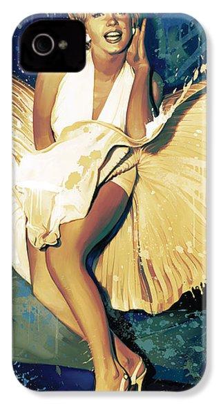 Marilyn Monroe Artwork 4 IPhone 4 Case by Sheraz A