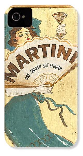 Martini Dry IPhone 4 Case by Debbie DeWitt