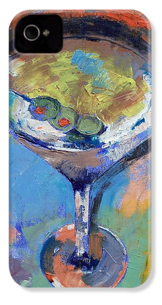 Martini Oil Painting IPhone 4 Case by Michael Creese