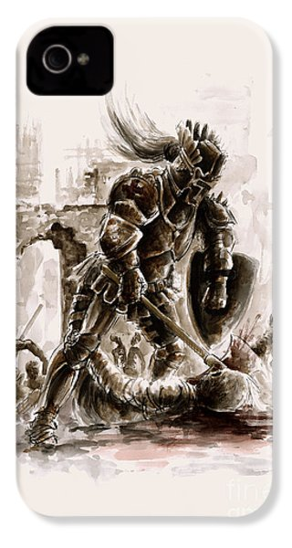 Medieval Knight IPhone 4 / 4s Case by Mariusz Szmerdt