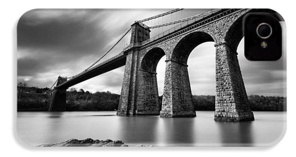 Menai Suspension Bridge IPhone 4 Case by Dave Bowman