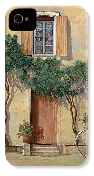 Mezza Bicicletta Sul Muro IPhone 4 / 4s Case by Guido Borelli