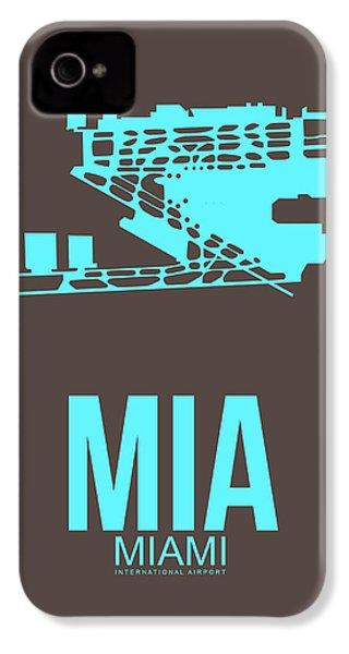 Mia Miami Airport Poster 2 IPhone 4 Case by Naxart Studio