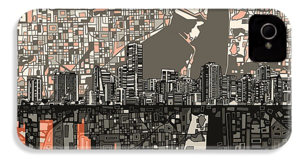 Miami Skyline Abstract 2 IPhone 4 Case