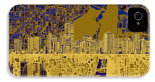 Miami Skyline Abstract 3 IPhone 4 Case