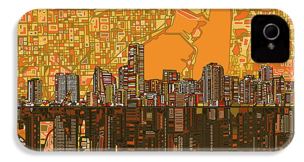 Miami Skyline Abstract 5 IPhone 4 Case