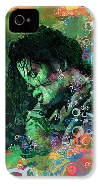 Michael Jackson 15 IPhone 4 Case by Bekim Art