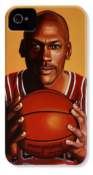 Michael Jordan 2 IPhone 4 Case by Paul Meijering
