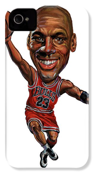 Michael Jordan IPhone 4 Case by Art