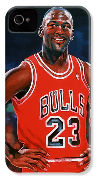 Michael Jordan IPhone 4 Case by Paul Meijering