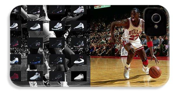 Michael Jordan Shoes IPhone 4 Case by Joe Hamilton