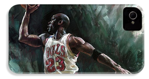 Michael Jordan IPhone 4 Case by Ylli Haruni