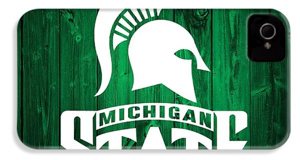 Michigan State Barn Door IPhone 4 Case by Dan Sproul