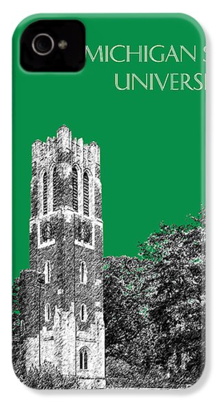 Michigan State University - Forest Green IPhone 4 Case by DB Artist