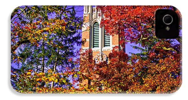 Michigan State University Beaumont Tower IPhone 4 Case by John McGraw