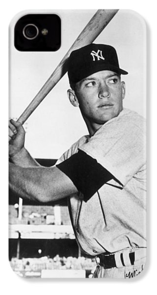 Mickey Mantle At-bat IPhone 4 Case by Gianfranco Weiss