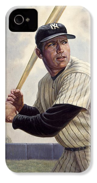 Mickey Mantle IPhone 4 Case by Gregory Perillo