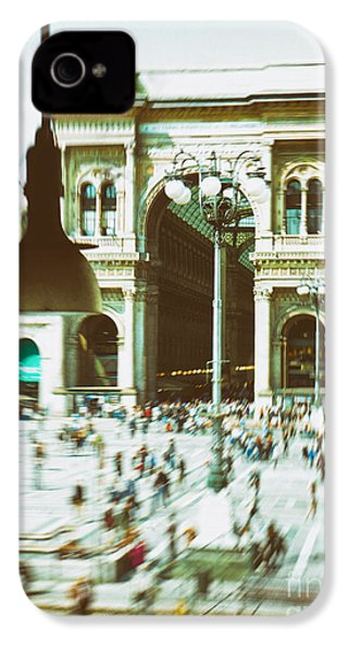 IPhone 4 Case featuring the photograph Milan Gallery by Silvia Ganora