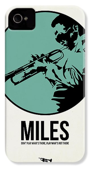 Miles Poster 1 IPhone 4 Case by Naxart Studio