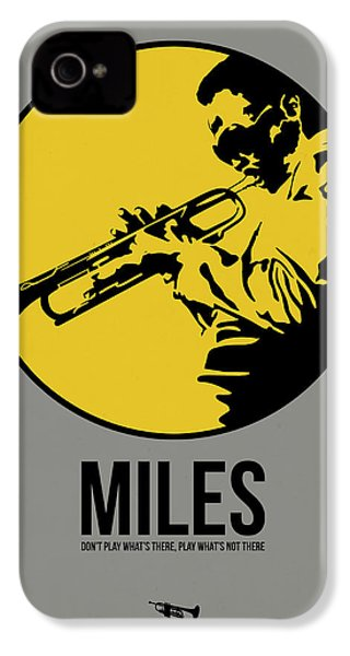 Miles Poster 3 IPhone 4 Case by Naxart Studio