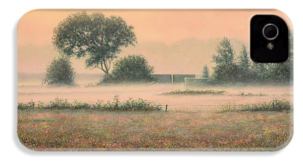 Misty Morning IPhone 4 Case by James W Johnson