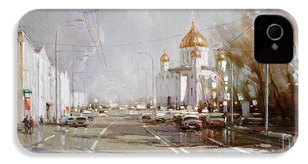 Moscow. Cathedral Of Christ The Savior IPhone 4 Case by Ramil Gappasov