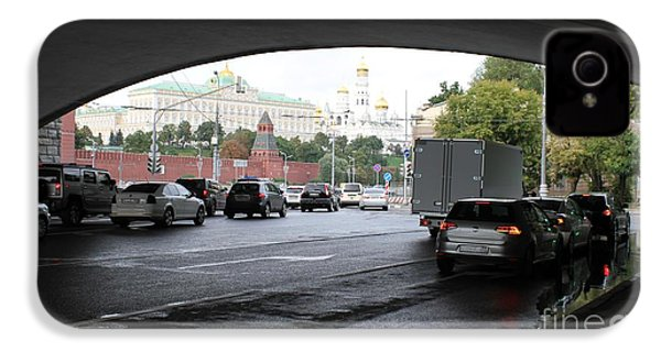 Moscow Kremlin Seen Through The Archway Of Greater Stone Bridge In Moscow I IPhone 4 Case