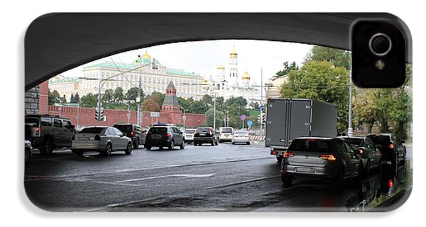 Moscow Kremlin Seen Through The Archway Of Greater Stone Bridge In Moscow I IPhone 4 Case by Anna Yurasovsky