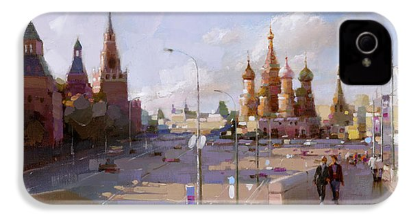 Moscow. Vasilevsky Descent. Views Of Red Square. IPhone 4 Case by Ramil Gappasov