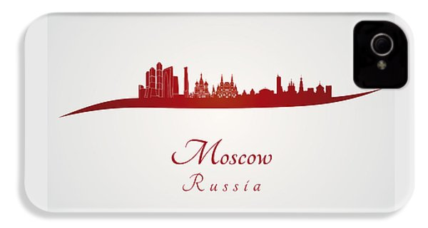 Moscow Skyline In Red IPhone 4 Case