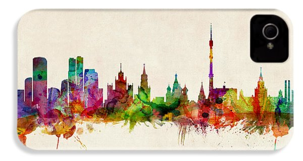 Moscow Skyline IPhone 4 Case by Michael Tompsett