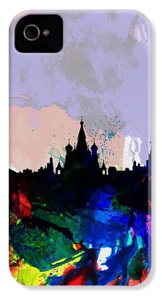 Moscow Watercolor Skyline IPhone 4 Case by Naxart Studio