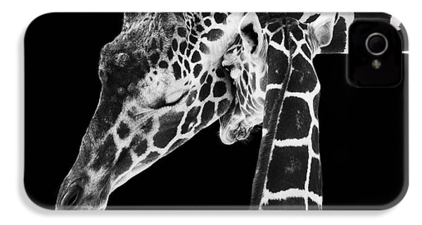 Mother And Baby Giraffe IPhone 4 Case