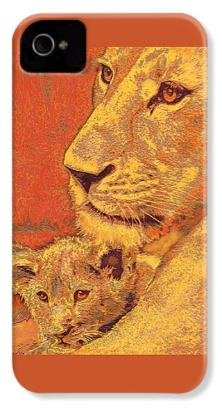 Mother And Cub IPhone 4 Case by Jane Schnetlage