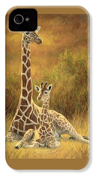 Mother And Son IPhone 4 Case by Lucie Bilodeau