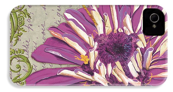 Moulin Floral 2 IPhone 4 Case by Debbie DeWitt