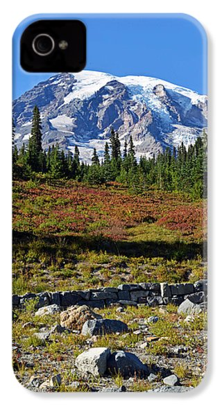 IPhone 4 Case featuring the photograph Mount Rainier by Anthony Baatz