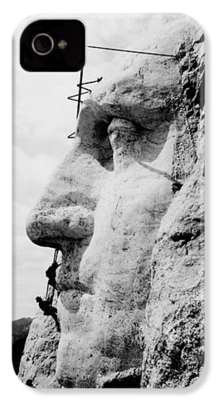 Mount Rushmore Construction Photo IPhone 4 Case by War Is Hell Store