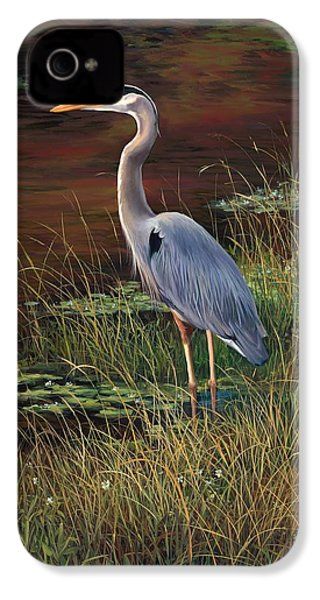 Mrs Blue Heron IPhone 4 Case by Laurie Hein
