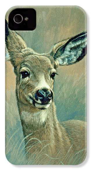 Muley Fawn At Six Months IPhone 4 Case by Paul Krapf