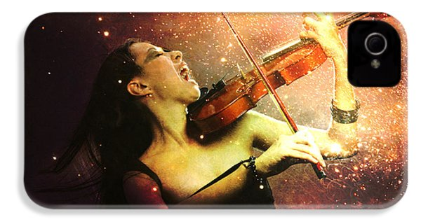 Music Explodes In The Night IPhone 4 Case by Linda Lees