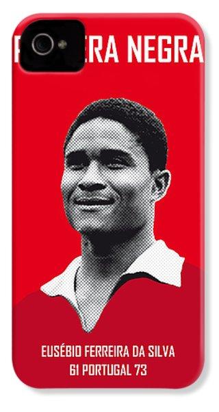 My Eusebio Soccer Legend Poster IPhone 4 Case by Chungkong Art