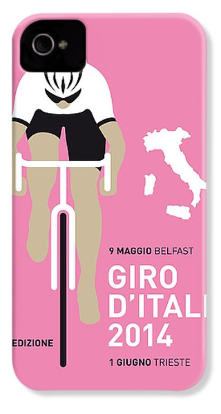 My Giro D Italia Minimal Poster 2014 IPhone 4 / 4s Case by Chungkong Art