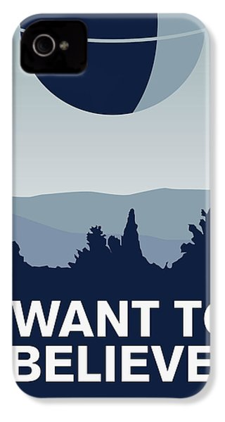 My I Want To Believe Minimal Poster-deathstar IPhone 4 Case by Chungkong Art