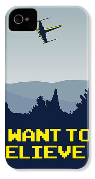 My I Want To Believe Minimal Poster- Xwing IPhone 4 Case by Chungkong Art