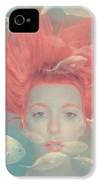 My Imaginary Fishes IPhone 4 Case by Anka Zhuravleva